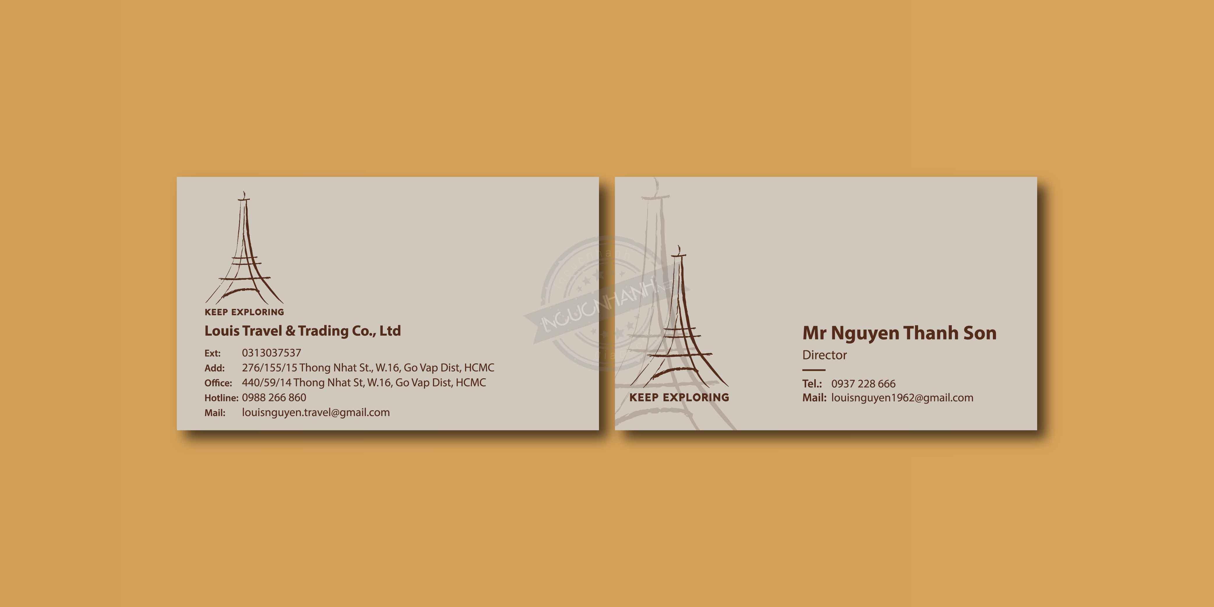 In card visit theo yêu cầu